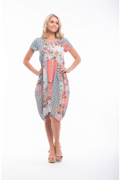 GRAN CANARIA DRESS BUBBLE POCKETS